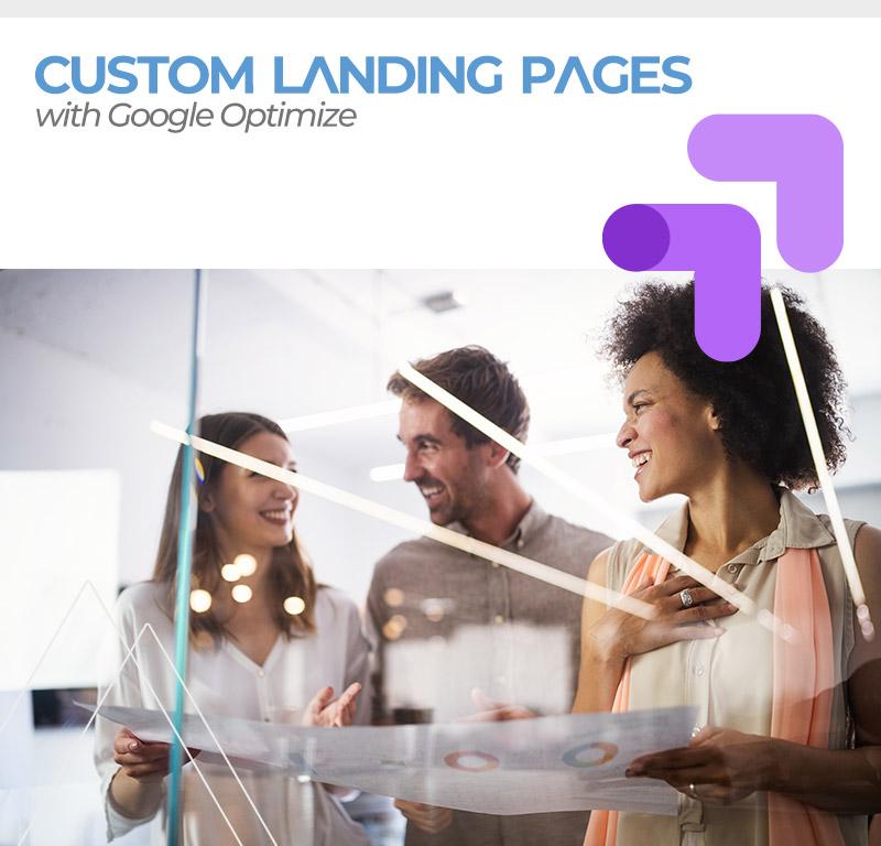Google Optimize landing pages